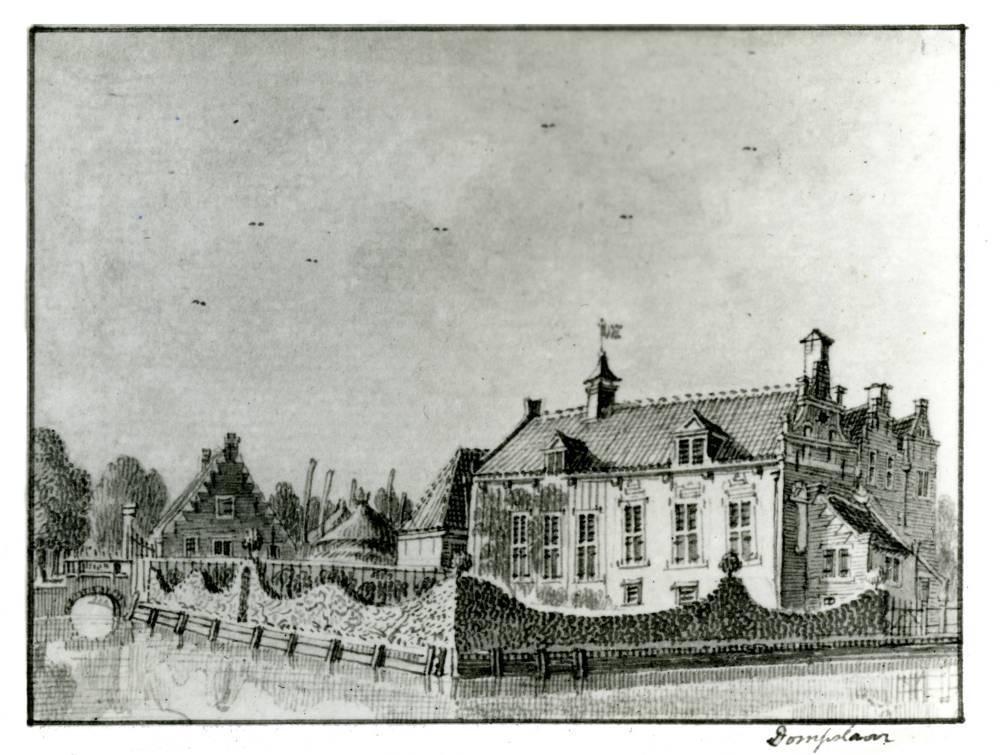 Dompselaer in Langbroek. Tekening Jan de Beijer, 1745